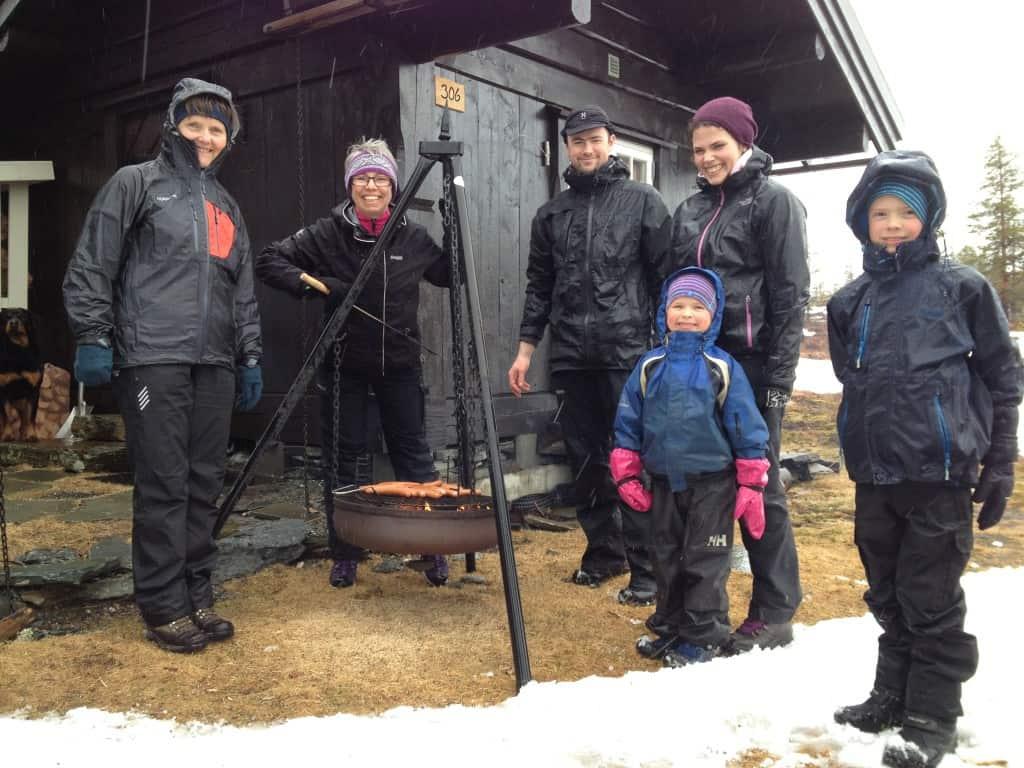 Skidag på Hoven-hytta