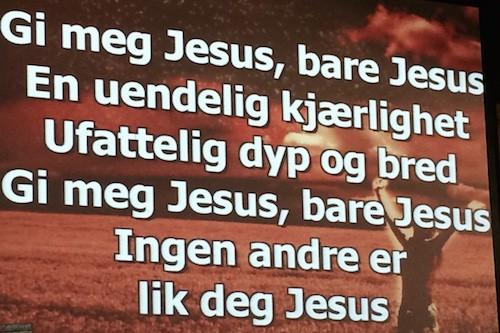 Sangtekst - Bare Jesus