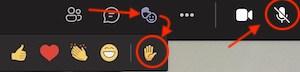 Symbol for å rekke opp hånda og slå på mikrofon